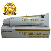 Reticor Tretinoin 0.025 Cream for Acne Remove Wrinkles Scars Comedo