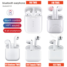 Latest Version i11/i12/i18/V8/Inpods 12TWS Wireless Earphone Bluetooth 5.0 Earbuds for iOS Android