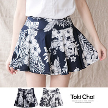 TOKICHOI - Tropical Print Mini Skirt-6001919