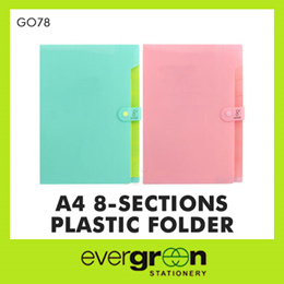 A4 G078 8 Section Plastic Folder