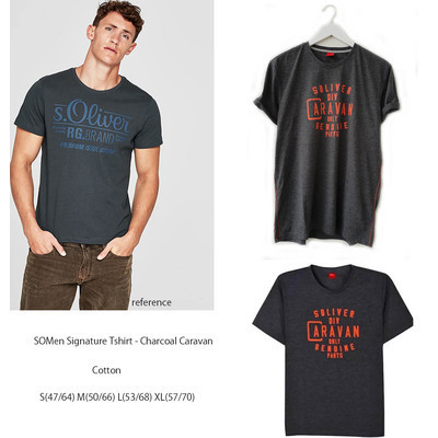 SOMEN Signature Tshirt Charcoal Caravan