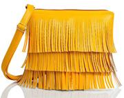 29K Women Frills (Jhallar) Sling Bag Yellow