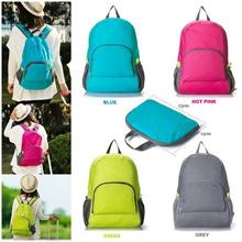Solid Color Foldable Travel Backpack / Tas Ransel Travel Lipat