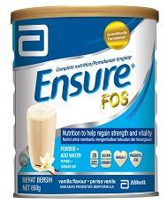 Ensure with FOS Vanilla 850g x 5 tins