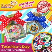 [LOLLYTALK] Teachers Day Lolly Mix Sweet Gifts for your teachers! Also customise for various events