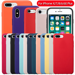 JD] Official Silicone Case Has The Original LOGO for the iPhone Series for iPhone6/7/8/X/XS/MAX/XR