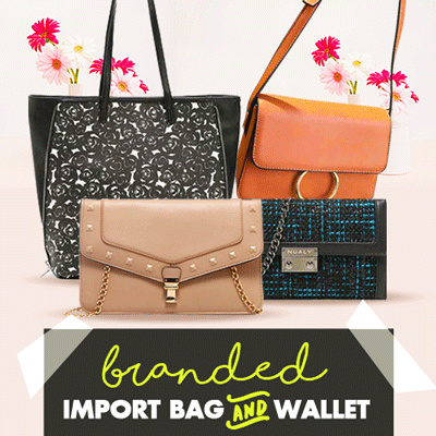 [NEW ON OCTOBER] Branded Import Bags Wallets Pouches Deals for only Rp55.000 instead of Rp55.000