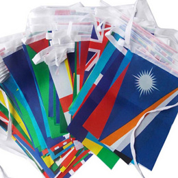 1 set Different Countries Hanging Flag / Banner Office & bar & Hotel & Home Decoration Activity & wk