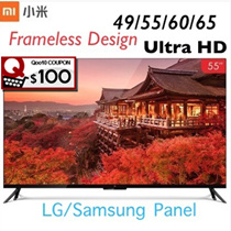 Rdy Stock SALE 49/55/60/65inches Xiaomi tv 4 4A/3S smart LED 4k tv free latest us/hk drama movies