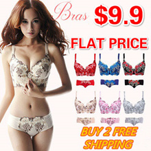 Special sale:$9.9/Push up bra/Sexy Lace Bra/Large size bra/Bra and Panty set/Best selling in Japan/