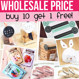 WHOLESALE Cookies/Candy bags/ Handmade stickers/ Ribbon. Lowest in Qoo10. Buy 10+1 Free