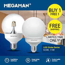 BUY 1 GET 1 FREE - MEGAMAN LED GLOBE SERIES ( 9.5W 11W)