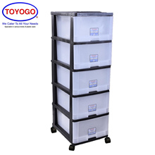 Toyogo Plastic Storage Cabinet / Drawer With Wheels (5 Tier) (903-5)