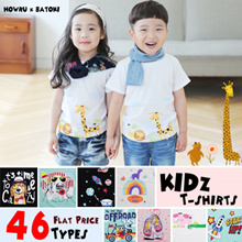 [HowRU] ★Kids T-Shirts 46 Styles★  Top Korea Kids Fashion Clothes / Girls Boys T-Shirt / Top / Chirstmas