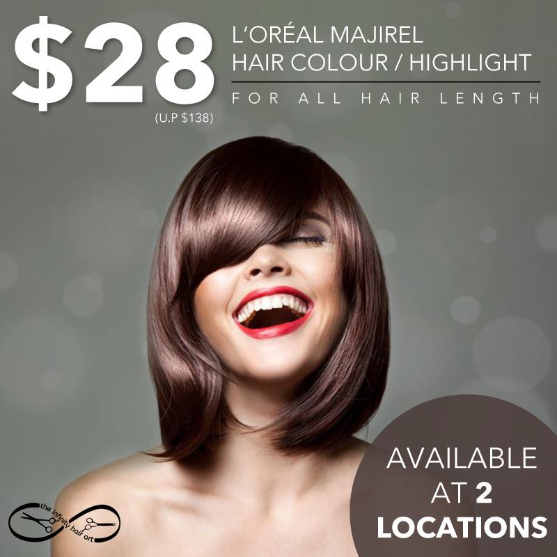 Qoo10 Loreal Hair Colour Services