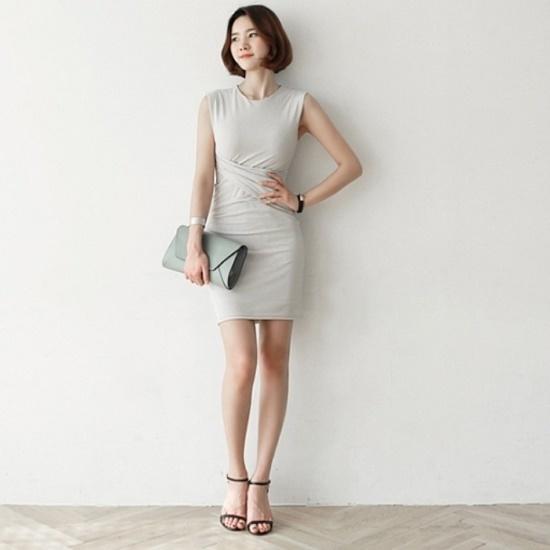ナインNAINメトロツイストワンピースOP2315 面ワンピース/ 韓国ファッション