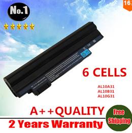 WHOLESALE New laptop battery for Acer ASPIRE ONE D255 D260 AL10B31 AL10A31 AL10G31 6 CELLS