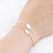 Pulseras Mujer Moda 2017 Stainless Steel Gold Chain Origami Elephant Bracelets For Women Lucky Jewel