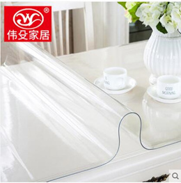 Thick soft plastic glass PVC waterproof tablecloth anti-scalding oil-proof table mat transparent rub