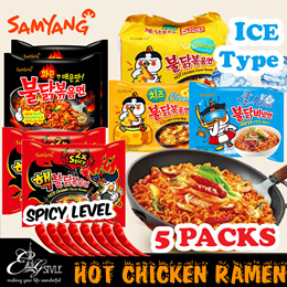 🔥Samyang🔥Hot Chicken Instant Ramen / Cheese / Curry / 2X Spicy / Ice type / 5Packs