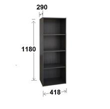 Free delivery Large 4 Tier Storage Shelf Rack Organizer Cabinet - Oak Grey woodgrain - wooden