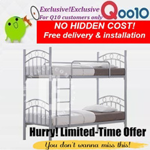 Singapore furniture warehouse Sales!Metal double decker bed frame!Free delivery+installation!