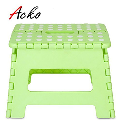 Acko Light Green 11 Inches Non Slip Folding Step Stool for Kids and Adults wit..
