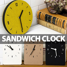 ★Local Shipping★ Sandwich Wall Clock/Without Driling/Easy to install/Super-light weight/Zero Noise