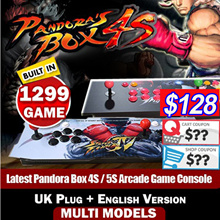 MAKE $128【SG Best Deal】English Version Latest Pandora Box 4S / 5S Arcade Game Console 815 / 986 / 999 / 1299 Games Jamma UK Plug丨Free Shipping