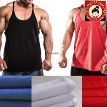 Hibiscus Floral Sand Stringer Vest Bodybuilding Singlet Y Back Training Mens Gym