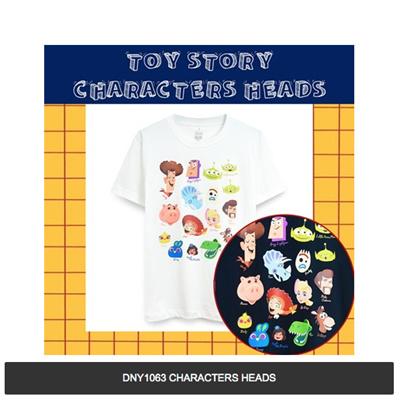 Kaos DNY1063 TS CHARACTERS HEADS (PUTIH)
