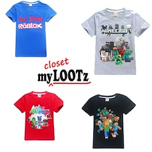 [Aug] Cartoon Tee for Kid/Boy/Girl/Ninjago/Minecraft/Ninja Turtle/Paw Patrol/Pokemon/Roblox/PJ Mask