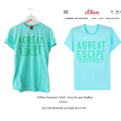 SOMEN Signature Tshirt Great Escpae Blue