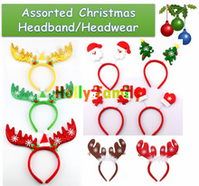 [Christmas Final Sale] [Buy 5 Get 1 Free] Christmas Decoration Headband/Headwear (for Children and Adults)/Christmas Xmas Costume Accessories – Assorted Designs Available
