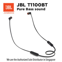 JBL T110 BT Black / Bluetooth / Wireless / Earphones /