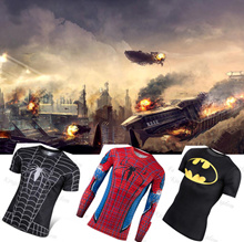 18 !3d t-shirt printed compression shirt tops Fitness tight Sports tee shirt  Dragon Ball Quick Dry