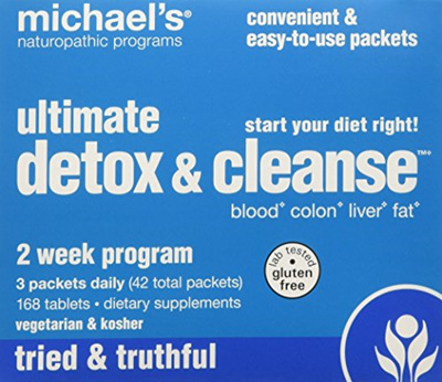 Michaels Naturopathic Programs Ultimate Detox Cleanse 2 Week Program 1 Kit