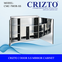 [Quality Bathroom Products] Crizto 2 Door Stainless Steel Mirror Cabinet (R)