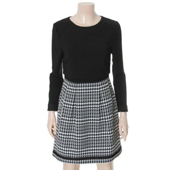 リスト16年パターン配色ミニワンピースTWWOPG30050 面ワンピース/ 韓国ファッション