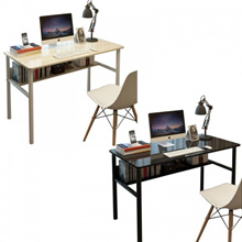 Desktop Computer Desk Home Bedside Office Study Desk With Bookcase Simple Desk Single Board Table (C
