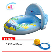 Ocean Children Inflatable Swim Pool Boat With Sun Shade