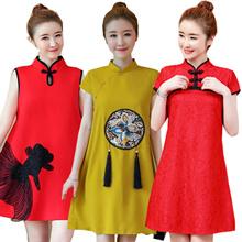 2019 中国风 CheongSam / Qipao / Traditional Ethnic Embroidery SILK DRESS /PLUS SIZE