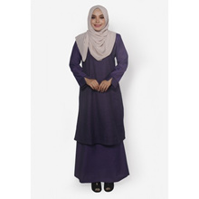 Fitri Plaid Baju Kurung Only (Purple)