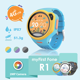 Oaxis myFirst Fone R1 Ultimate Kids 4G Music Smartwatch | Watch Phone with GPS Video Call