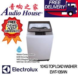 ELECTROLUX EWT-105WN 10 KG TOP LOAD WASHER ***2 YEARS ELECTROLUX WARRANTY***