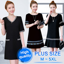 【BIG PROMO】 PLUS SIZE S~7XL FASHION LADY DRESS OL work dress blouse TOP
