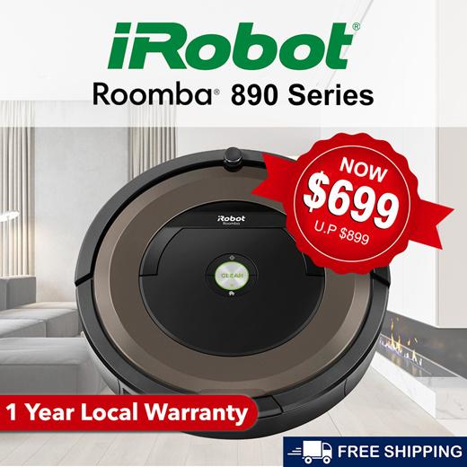 Qoo10 Irobot Roomba 890 Robot Vacuum Cleaner Brand New 1 Year Warranty Home Electronics
