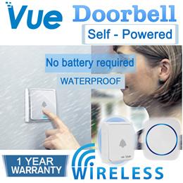 [SG version 3 Pin plug] Vue Doorbell Wireless Doorbell / Self-power Doorbell / NO NEED BATTERY /S