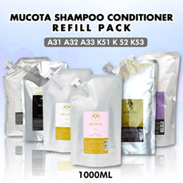 ⭐︎BUY90 free shipping⭐︎ MUCOTA A31 A32 A33 K51 K 52 K53 shampoo conditioner 1000ml refill pack
