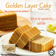 BUY 2 FREE DELIVERY! [BUNDLE OF 3] Golden Layer Cake (Kueh Lapis) ~No preservatives added!